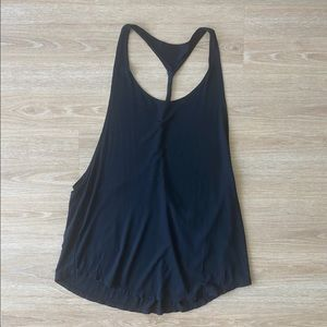 Active Braided T-Back Tank Black